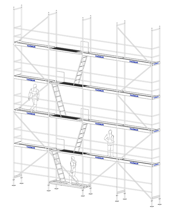 h type scaffolding - H Type Scaffolding System